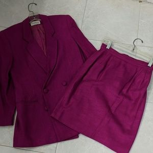 Fuchsia  double breasted suit